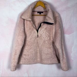 Tommy Hilfiger Mauve Teddy Pullover Sweater